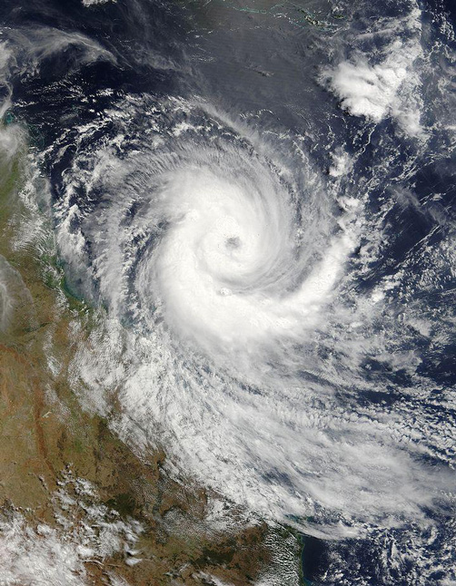 View of the Cyclone from space